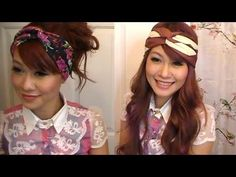How To Twist Scarf Into Head Band PLUS Head Band DIY (Level:Easy)