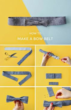 This bow belt will add a gorgeous finishing touch to your homemade dresses and skirts. Make it in matching or contrast fabric - it's a ...