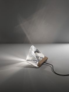 Lampada da tavolo a LED in cristallo TRIPLA | Lampada da tavolo - Fabbian
