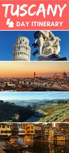 Tuscany is one of the most beautiful and popular regions in Italy. Check out this 4-day Tuscany itinerary to find find out how to visit Pisa, Siena and Florence in such a short period of time.