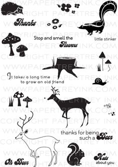 Forest Friends Stamp Set, $24 Papertrey Ink