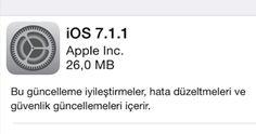Apple'dan iOS 7.1 için ilk güncelleme geldi.