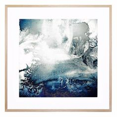 """A beautiful abstract artwork, """"Antarctica 1"""" will add a pop of color to any living space."""