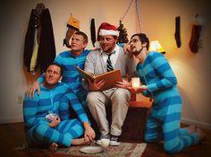 roommate christmas card pajamas