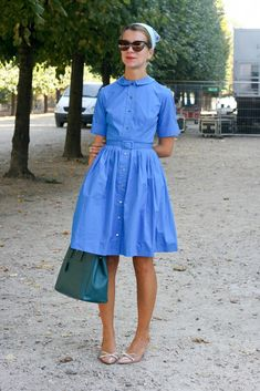 50s <3 http://blog.stylesight.com/vintage/retro-streets-fashion-week-ss-12