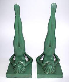 Beautiful Frankart nymph Art Deco bookends