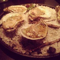 Mighty fine oysters (and lovely presentation) at Husk Nashville Nashville Restaurants, Oysters, Hummus, Presentation, Ethnic Recipes, Instagram Posts, Food, Essen, Meals
