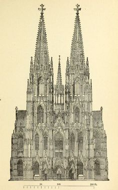 The projected facade of the Cathedral, Cologne