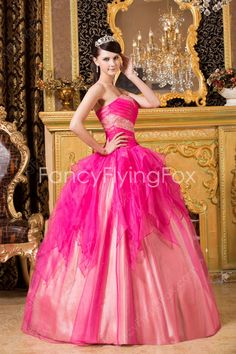 Lively Shallow Sweetheart Neckline Ball Gown Floor Length Fuchsia And Pink Sweet…