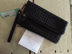 Woven fold over clutch