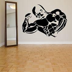 Amazon.com: Wall Room Decor Art Vinyl Sticker Mural Decal Body Builder Gym Big Large AS1038: Baby