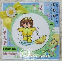 Stamp Fairy 'April Showers' card