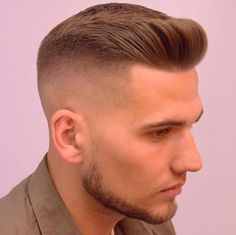 Pompadour with Undercut - Crew Cut Haircut
