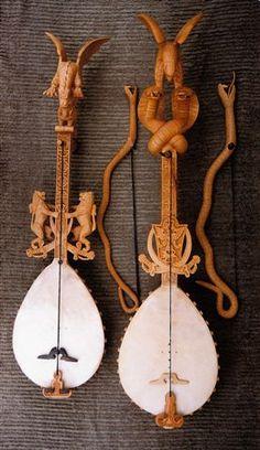 The single stringed Gusle from Serbia, Croatia, Macedonia, Bulgaria and Albania.