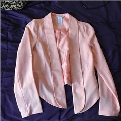 Light Pink Candies Blazer Light pink blazer. Only worn once. It goes long then short from to back. Great condition. Candie's Jackets & Coats Blazers
