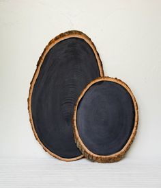 I had never considered this before, but you could make some chalkboard signs you use out of slices of log, which if you or someone knows a person that we could get lumber from, would be cheaper.