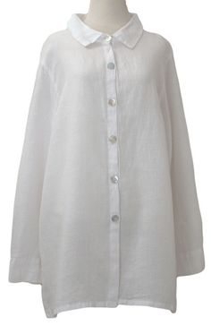 Collared Button Down Shirt by Matchpoint in White– Marjory Warren Boutique