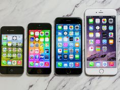 The iPhone 6 and iPhone 6 Plus are significantly larger than their predecessors, but not so far removed from competing phones. Take a look.
