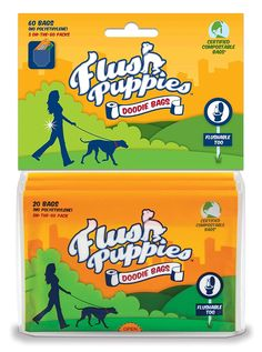 Flush Puppies Doodie Bags, Flushable and Certified Compostable, 3 On-the-Go Packs (60 Bags) => Wow! I love this. Check it out now! : Dog Litter and Housebreaking