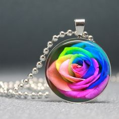 RAINBOW ROSE NECKLACE