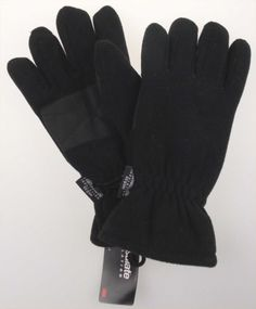 Athletech Mens Black Winter Driving Ski Gloves 3M Thinsulate Lined Snow Warm NEW