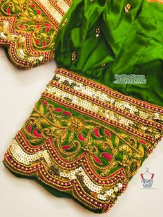 Hand Work Blouse Design, Blouse Designs Silk, Bridal Blouse Designs, Saree Blouse, Sari, Maggam Works, Fashion Blouses, Embroidered Blouse, Blouse Styles
