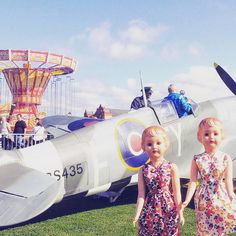 """Trip to #vintagebythesea yesterday #vintagefestival #vintageplane #ww2plane #carousel #vintagedolls #vintagedesign #1950s #1940s #dollphotoshoot…"" - Thanks to @tatiquegram"