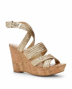 Anya Metallic Braided Wedges