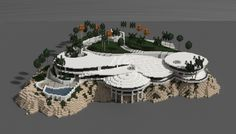Iron man mansion i made in minecraft.  Schematic download: http://www.minecraft-schematics.com/schematic/7003/
