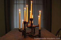 pipe candelabra