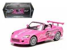 """Suki's 2001 Honda S2000 Pink """"2 Fast and 2 Furious"""" Movie (2003 ) 1/43 Diecast Model Car by Greenlight - Brand new 1:43 scale diecast car model of Suki's 2001 Honda S2000 Pink """"2 Fast and 2 Furious"""" Movie (2003 ) die cast car model by Greenlight. Rubber tires. Brand new box. Limited Edition. Detailed interior, exterior. Comes in plastic display showcase. Dimensions approximately L-5 inches long.-Weight: 1. Height: 5. Width: 9. Box Weight: 1. Box Width: 9. Box Height: 5. Box Depth: 5"""