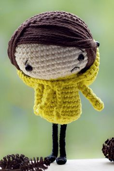 Amigurumi Lilly, crochet by Janie Nabbe Crochet Amigurumi, Amigurumi Patterns, Amigurumi Doll, Crochet Dolls, Crochet Patterns, Crochet Hats, Love Crochet, Diy Crochet, Crochet Music