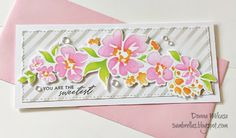 Pretty Pink Posh, Marker Art, Flower Cards, Diy Cards, Stampin Up Cards, Swirls, Stencils, Card Making, Greeting Cards