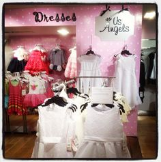 Check out our signage at @bloomingdales #nyc! Stop by and see it for yourself! #polkadots #pink #usangels