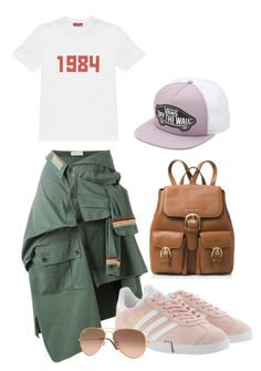 """military skirt"" by kseniakul ❤ liked on Polyvore featuring Faith Connexion, adidas Originals, Gosha Rubchinskiy, MICHAEL Michael Kors, Ray-Ban and Vans"