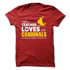 Teacher Loves The Cardinals TShirt | DonaShirts.com - Dare To Be Tshirts, Hoodies And Custom