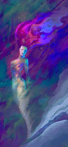Watercolor art Mermaid