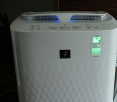 yellow dustbuster and all great air purifier - the Sharp Plasmacluster device!