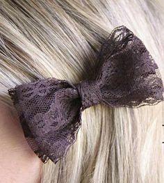 Como hacer lazo para el pelo usando encaje :lodijoella