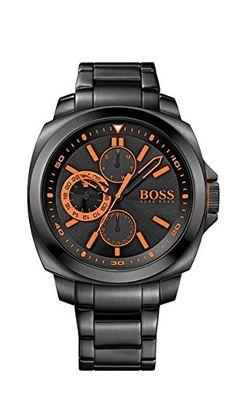 c0e24bf0655f Hugo Boss Orange Mens Black IP Black Dial 1513104