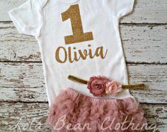 Bebé niña 1er cumpleaños traje torta nadaría por LolaBeanClothing