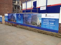Hoarding graphics can be an eye-catching addition to a building site.