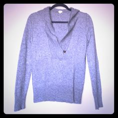 J. Crew cashmere-wool blend sweater Grey J. Crew sweater, fresh from dry cleaner. Size small. Wool, lyocell, nylon, and cashmere. Minor pilling and one pin head-size hole (pictured), otherwise in excellent condition. J. Crew Sweaters