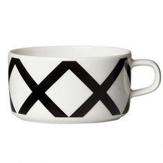 Spaljé tea cup dl from Marimekko by Carina Seth-Andersson, Sami Ruotsalainen Marimekko, Fresh Coffee, Scandinavian Living, Nordic Design, Pattern Fashion, Tea Cups, Porcelain, Ceramics, Tableware