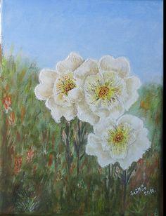 Created by:Szöllős Éva - Flowers acrylic, 24x30 cm canvas.