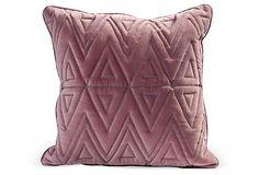 Geometric Pillow, Dusty Mauve on OneKingsLane.com