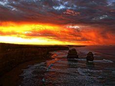 Amazing shot from the Great Ocean Road!  Photo credit:  @yoloc24  #sunrise #greatoceanroad #roadtrip #roadtripaustralia #travel #campervan #ocean #12apostles #sky #holiday #backpacking by coseats http://ift.tt/1ijk11S