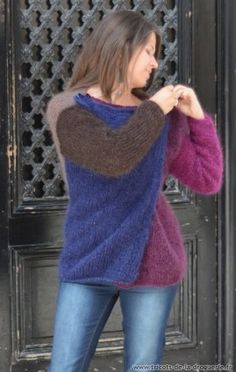 Knitting For Women 2 Sweaters, Pullovers And Dresses Angora Sweater, Sweater Coats, Cashmere Sweaters, Knitwear Fashion, Knit Fashion, Fashion Outfits, Crochet Blouse, Knit Crochet, Knitting Stiches