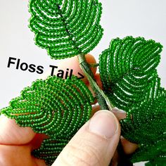 Wound with floss. Seed Bead Flowers, Wire Flowers, Beaded Flowers Patterns, Beading Patterns, Beading Techniques, Beading Tutorials, Free Tutorials, Fuse Beads, Beads And Wire