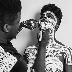 "The intricate white body paint Beyoncé and her backup dancers sport at various points throughout the visual album was designed by Nigerian-born, Brooklyn-based artist Laolu Senbanjo. | 19 Surprising Facts About Beyoncé's ""Lemonade"""